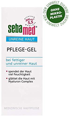 sebamed Unreine Haut Pflege-Gel, glättet die Haut mit Hyaluron Complex, beruhigt und pflegt die unreine und fettige Haut, Inhalt 50 ml