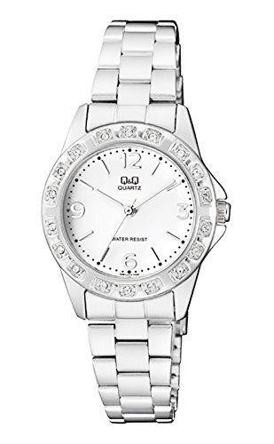 Q&Q Analog Diamond Rim White Dial Watch For Women-Q981J204Y image
