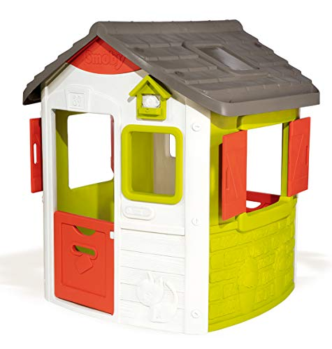 Smoby- Casita Infantil Personalizable Jura Lodge II (810500) Casa, Color Verde (