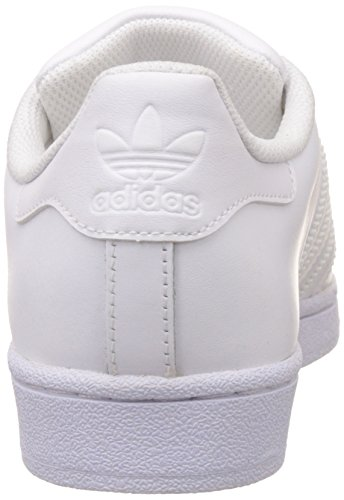 adidas Superstar Foundation, Baskets Basses Mixte Adulte Blanc