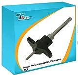 TK9K - Silverl Rückpolster TCT Mauerwerk Lochsägen Kreisschneider 77 mm Durchmesser für das Bohren in Ziegel, BREEZE block und (max Newton 45) Beton block. Verwendung mit Lochschneider quadratisch, Vertiefungen für elektrische Anschlussdosen zu erzeugen.