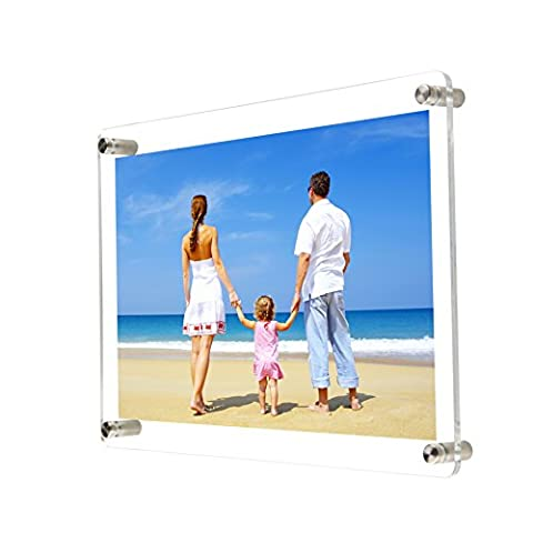 NIUBEE Clear Acrylic Wall Photo Frame A4 Size Document Certificate Picture Holder (For A4 Size picture)