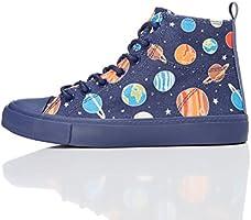 RED WAGON Sneaker a Collo Alto Bambino, Multicolore (Space Print), 33 EU