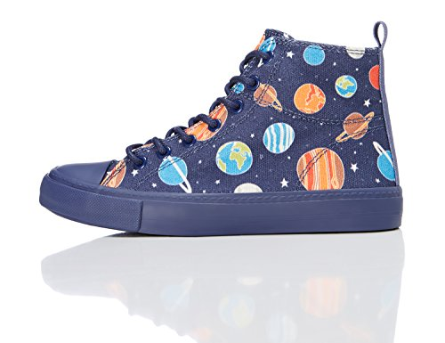 RED WAGON Zapatillas Altas para Niños, Multicolor Space Print, 33 EU