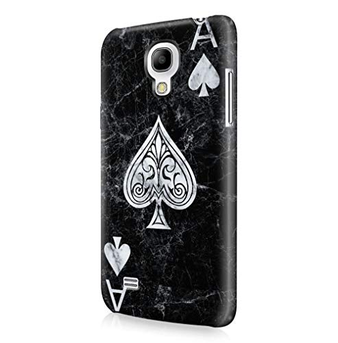 Maceste Ace of Spades Black Marble Kompatibel mit Samsung Galaxy S4 Mini SnapOn Hard Plastic Phone Protective Fall Handyhülle Case Cover