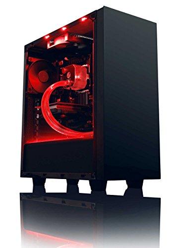 Vibox Damage 1 Unité centrale Noir/Rouge (AMD Athlon 64 fx, 8 Go de RAM, 1 To, Nvidia GeForce GTX 750)