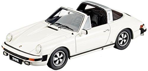 Schuco Dickie 450891300Porsche 911Targa (1975) 1: 43, GrandPrix Color Blanco, Escala
