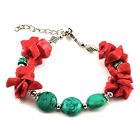 Ethnic bracelet - Joie - Turquoise Fashion jewelery Low price gift for woman Jewelry