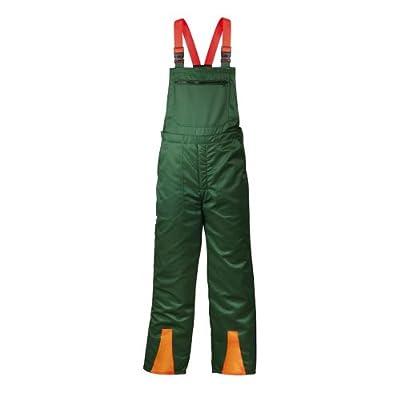Schnittschutzhose für Forstarbeiten - Latzhose mit Schnittschutzeinlage nach EN 381 Klasse 1, 44