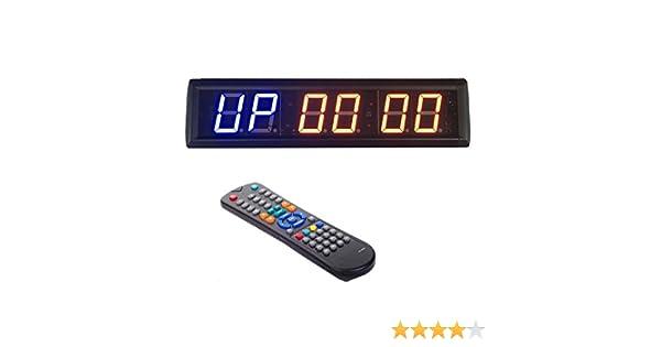 BTBSIGN Compte /à rebours et chronom/ètre Minuteur d/'Entrainement /à LED 4,6 cm