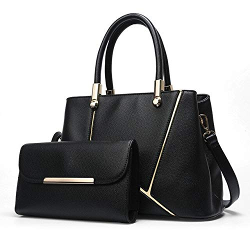 QIANHEDAMAI 2 Stücke Frauen Crossbody Mode Multifunktions Handtasche Umhängetasche Dame Pu Große Kapazität Weibliche Flap Bag -