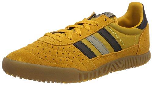 adidas Indoor Super, Scarpe da Fitness Uomo, Giallo (Amatac/Negbas/Cartra 000), 40 2/3 EU