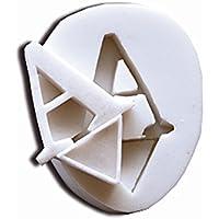 Molde de Silicona para Pasta de az/úcar SLK100 Letra R en Color Blanco silikomart 71.200.00.0096