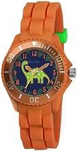 Tikkers TK0046 - Reloj analógico de cuarzo para niño con correa de caucho, color naranja