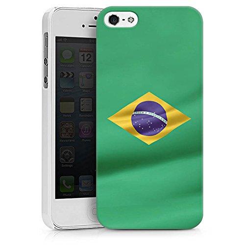 Apple iPhone X Silikon Hülle Case Schutzhülle Brasilien Flagge Brasil Hard Case weiß