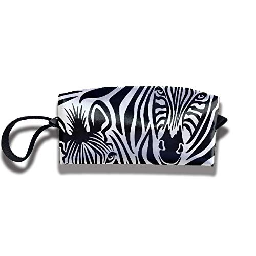 Couple of Zebras Eyes Makeup Bags Portable Tote Cosmetics Bag Travel Orgaizer