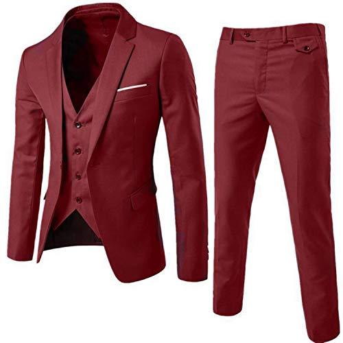 Meaningg Herrenanzüge Mit Hosen Herrenbekleidung Set Herren Slim Suit 2019 kostüm Homme Twedding anzüge für männer (Jacke + - Kostüm Homme Slim