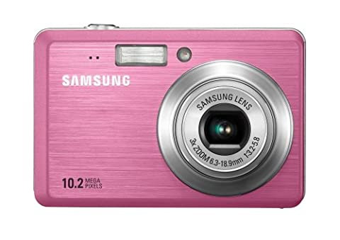 Samsung ES55 Digitalkamera (10 Megapixel, 3-fach opt. Zoom, 6,4 cm (2,5 Zoll) Display, Bildstabilisator) pink