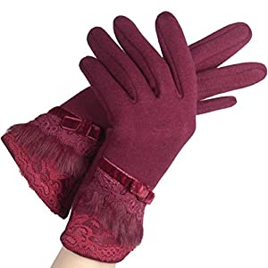 41 s o5NtlL. SS300  - Gloves Cycling Ski Running Windproof Touch Screen Female Fashion Thicken Keep Warm Lace Cold Protection Sticker ZHAOYONGLI