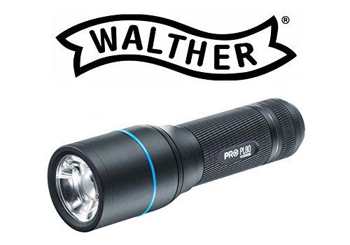 Walther PL80Pro Stabtaschenlampe, Aluminium, schwarz matt, 15 x 4 x 5 cm