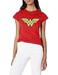 DC Comics - Camiseta con cuello redondo de manga corta para mujer