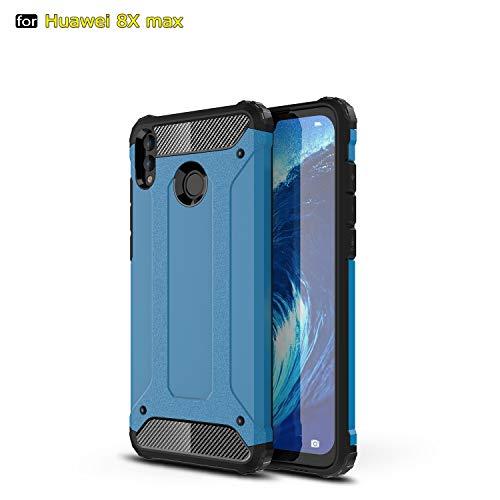 SANHENGMIAO COVER Für Huawei Handy Schwerlast gepanzerte Hartpanzer-Doppelhülle aus Hartpanzer für TPU + PCU + Schutzhülle für Huawei Honor 8X Max (Farbe : Blau) -