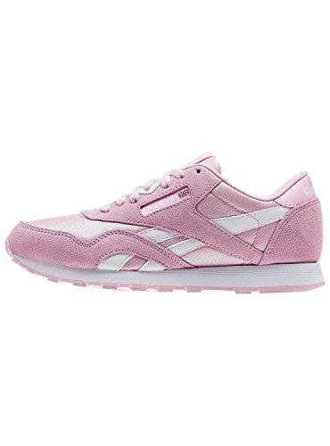 Reebok Cl Nylon, Zapatillas de Deporte para Niñas, Rosa (Charming Pink/White),...