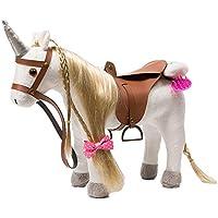 iBonny Stuffed Animal Unicorn Horse Pretty Plush Toy Pretend Play Unicorn 11 inches White