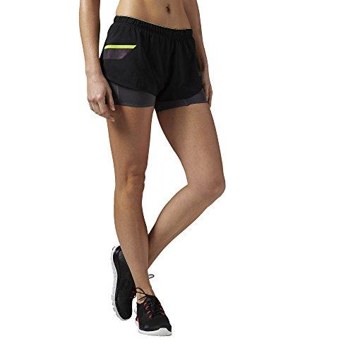 Reebok Short pour femme One Series Running 2en 1 Noir - noir