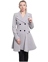 30dfcac2b1a47 De La Creme - Women s Wool   Cashmere Jacket Ladies Winter Double Breasted  Flare Coat Made