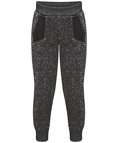Pour Enfants Uni Bas Survêtement Garçon Fille Pantalon Polaire Jogging Pantalon Survêtement - Noir, 3-4 ans