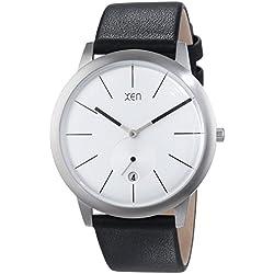 Xen Herren-Armbanduhr XL Analog Quarz Leder XQ0193