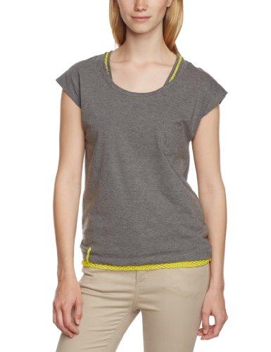 Cap Sleeve T-shirt Jersey (VERO MODA Damen T-Shirt 10093571 ANAYA TWO CAP SLEEVE TOP, Gr. 34 (XS), Grau (MEDIUM GREY MELANGE))