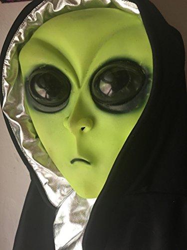 Alien Maske grün Helloween Halloween Monster Verkleidung