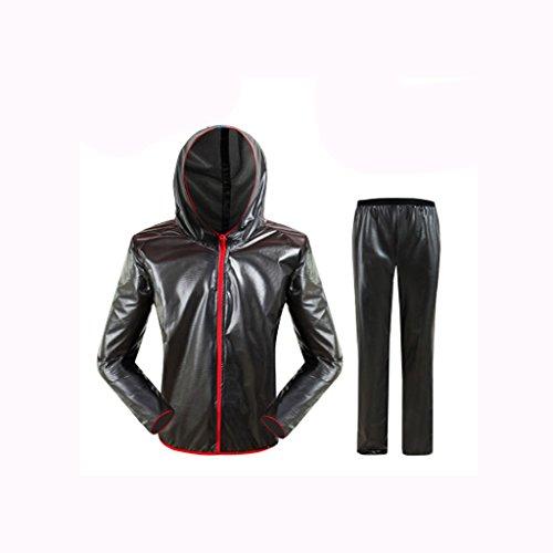 GLJJQMY Regenmantel Sports Bike Jersey Windbreaker Running Full Sleeve Jacket Regenfester, wasserdichter Anzug Wasserdichter Regenponcho (Color : A, Size : XXL) - Nylon Running-anzug