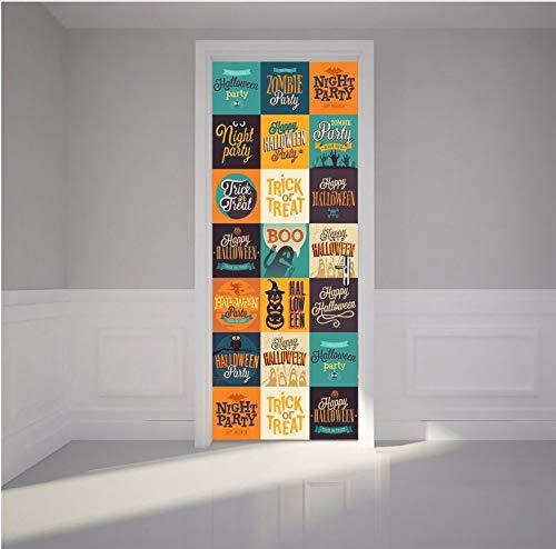 ion Zubehör Kreative Diy 3D Türaufkleber Halloween Logo Trick Or Treat Wandaufkleber Aufkleber Home Decor 70X204 Cm ()