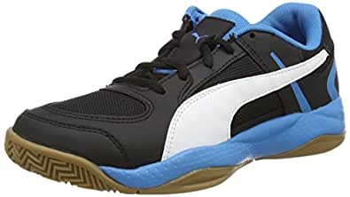 Puma Unisex Veloz Indoor II Black, White and Cloisonné Football Boots - 12 UK