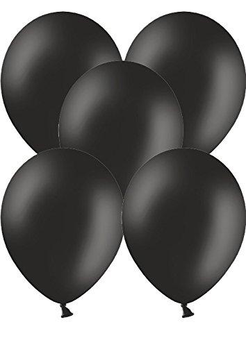 50 Luftballons Ø 28 cm Farbe frei wählbar Ballons Helium Luftballon (Schwarz)
