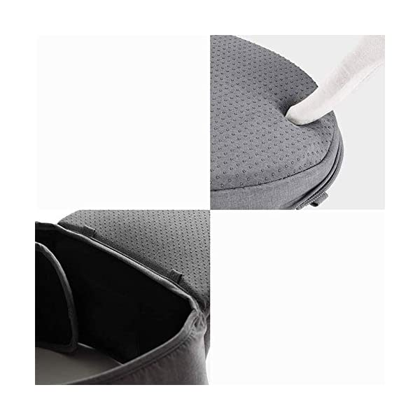 KOIUJ Seat Ergonomic 3D Baby Carrier 2 in 1 Soft Baby Hipseat Wrap Carrier Front and Back for Outdoor Travel Waist Stool for Women Men Newborn Baby Infant (Gray) KOIUJ ※The soft cotton makes the baby comfortable in all positions; The baby's back has a full range of head support so the baby's head can be well protected. ※The baby carrier is made of mesh and polyester fabric so each baby can breathe. Adjustable straps and straps are suitable for every parent to use in everyday use. It will make you feel most comfortable. Suitable for 3-36 months. ※There is a pocket next to the single hip seat so that you can place daily outdoor essentials. Two baby bibs are attached to the shoulder strap for babies and parents. 6