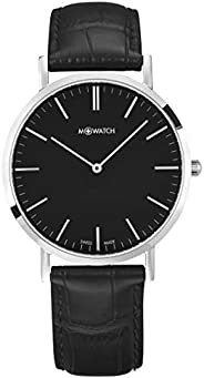 M-WATCH Unisex-Adult Quartz Watch, Analog Display and Stainless Steel Strap - WRG.34120.LB