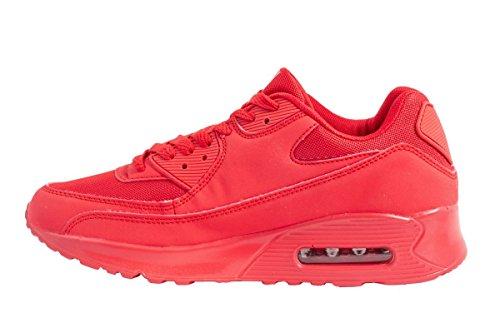 Sport Femmes et Hommes Chaussures rangers Chaussures de course profil semelle Baskets Rouge - Rouge