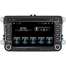 Android 7.1 Car Stereo Radio pantalla Bluetooth para VW Golf Skoda Passat Seat 1024 * 600 Car CD Reproductor de DVD Soporte Parking Sensor DAB + Subwoofer Enlace Espejo WIFI AV OUT SWC Cam-In