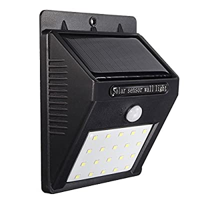 Solar Lights, GLISTENY 16 / 20 LED Motion Activated PIR Wall Light IP65 Weatherproof Outdoor Solars Lamp Wireless Security For Patio Deck Yard Garden Driveway Outside Wall - inexpensive UK light store.