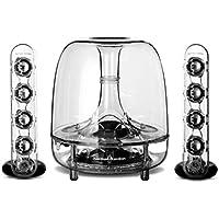 """Harman/Kardon Soundsticks III LED Desktop Soundsystem Lautsprechersystem mit Zwei """"Sticks"""" Satellitenlautsprechern und Aktivem Subwoofer für Geräte mit 3,5mm Aux Kompatibilität - Transparent"""
