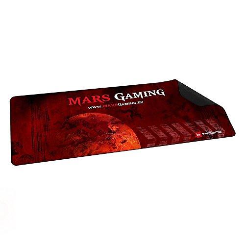 Mars Gaming MMP2 - Alfombrilla de ratón para gaming (alta precisión con cualquier ratón, base de caucho natural, alta comodidad, 88 x 33 cm), color ro
