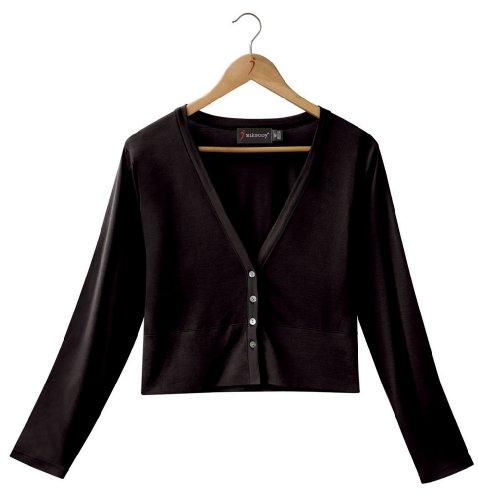 Silkbody - Gilet -  - Uni - Manches longues Femme Noir