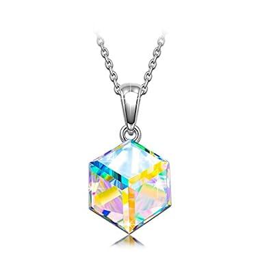 "NINASUN ""Kaleidoscope"" 925 Sterling Silver [Aurore Boreale] Crystals from Swarovski, Women Fine Jewellery, Allergen-free"