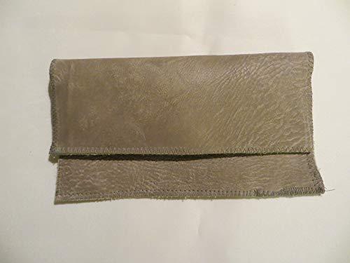 Tabaktasche Leder Büffel antik grau -