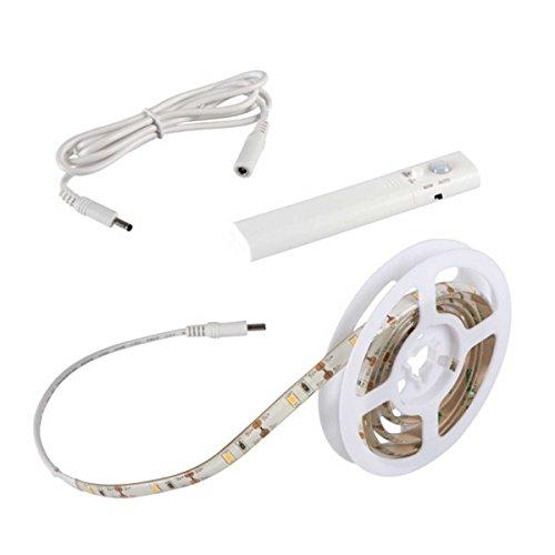 LED Stripe 1m Set mit Sensor Bewegungsmelder und Batterie - Stripes Lichterkette Band Streifen Leiste Lichtleiste Bänder