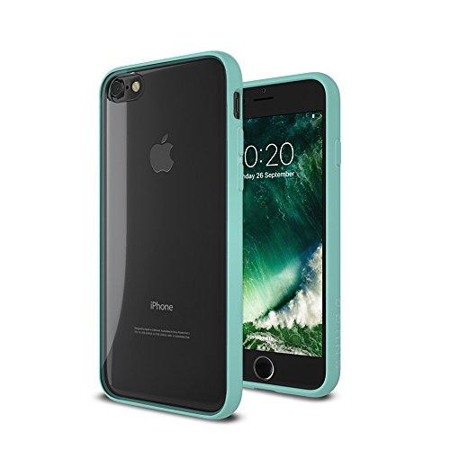 Cover iPhone 7 and 8, Snugg Apple iPhone 7 and 8 Custodia Case [Fondello Trasparente] TPU Ultra-Slim Pelle – Verde, Vision Range Green